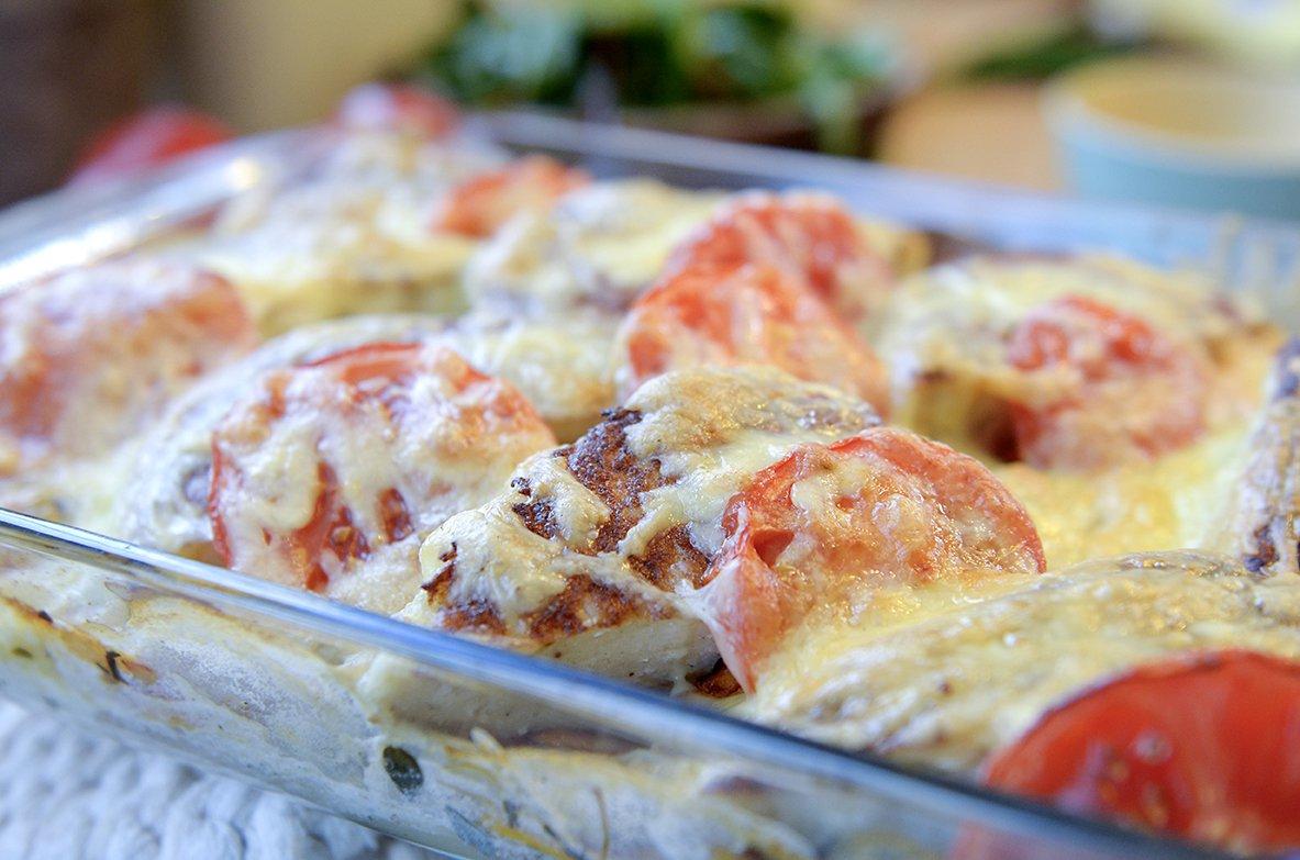 Fiskekaker med lettvint potetgrateng