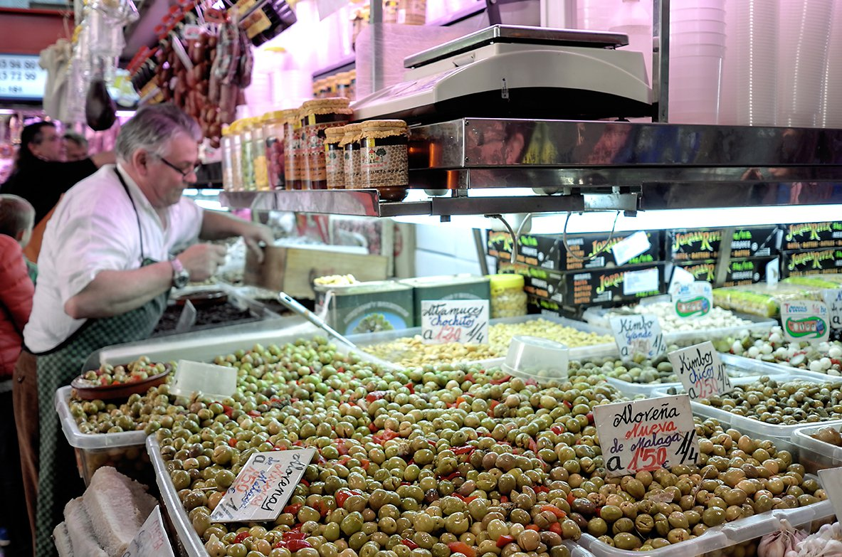 Deilig mat i Málaga