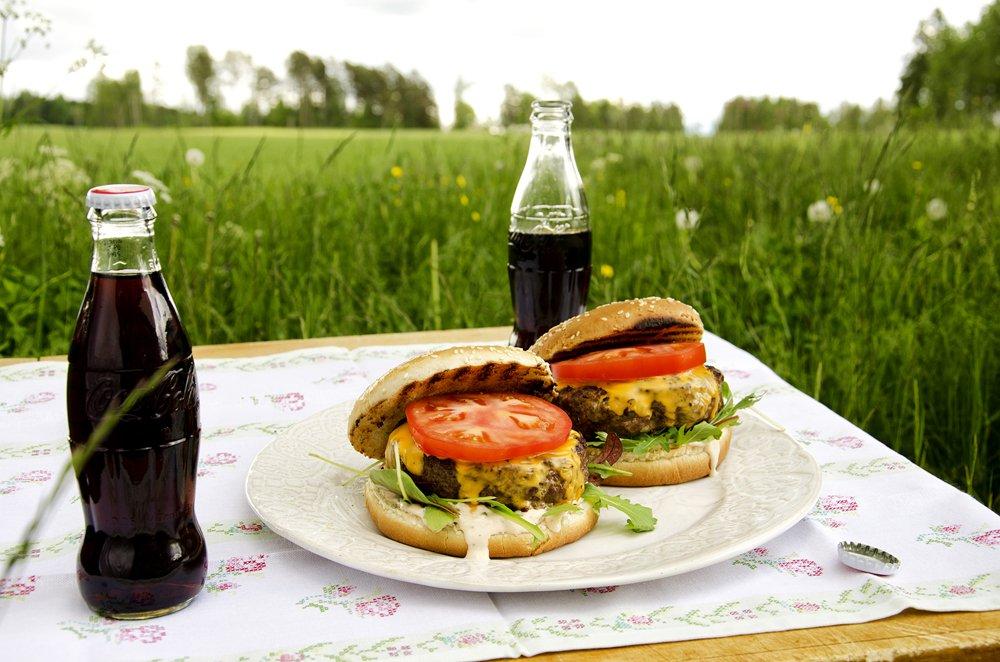 amerikansk-hamburger