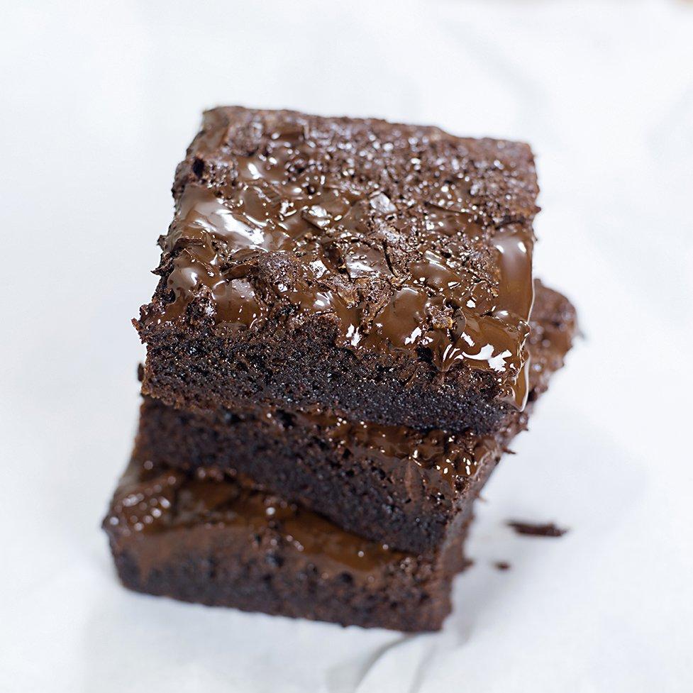 Brownie med mørk sjokolade