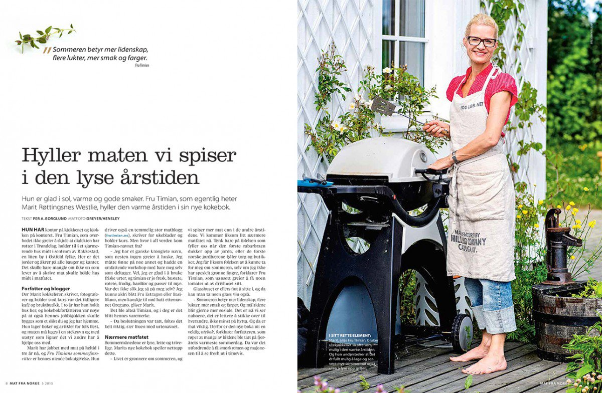 Jeg fikk hele coveret i Mat fra Norge!
