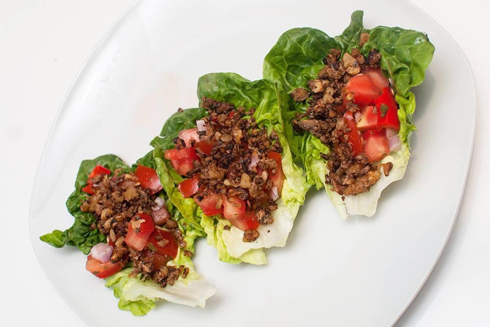 Kjøttfri taco i salatblad