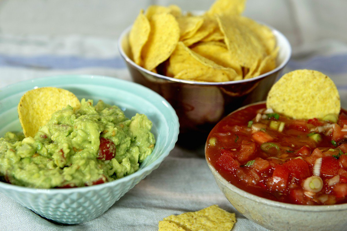 Guacamole og salsa