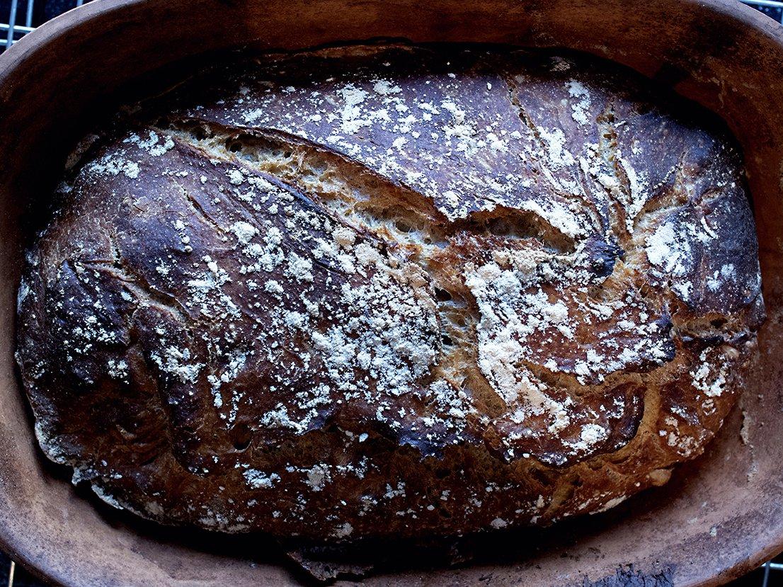 Eltefritt brød med fullkornshvetemel