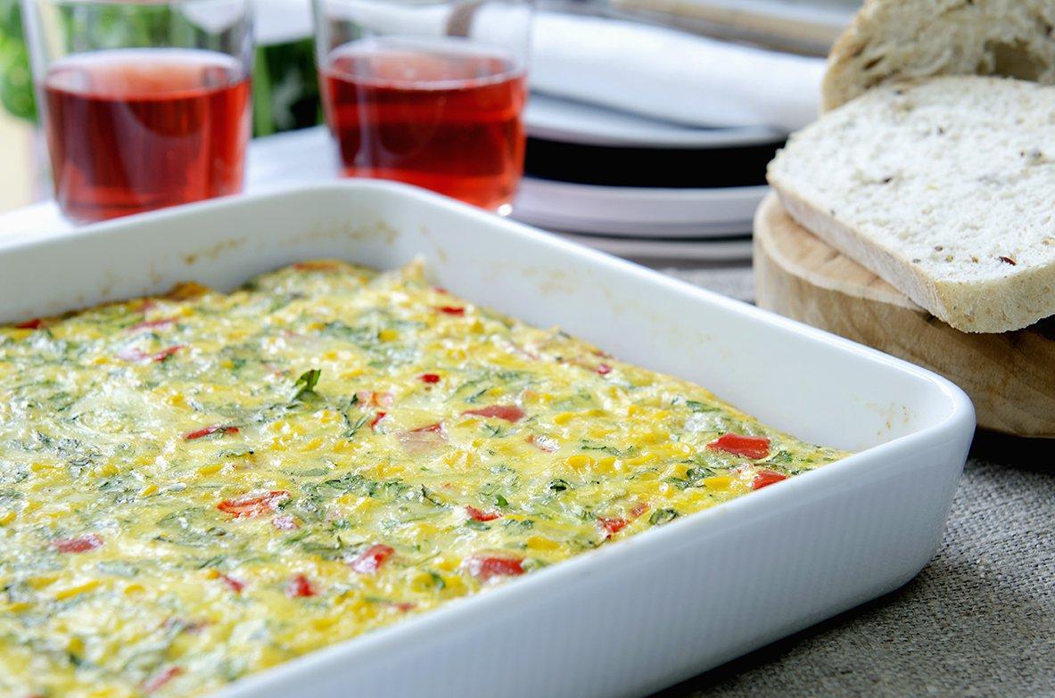 ovnsbakt omelett