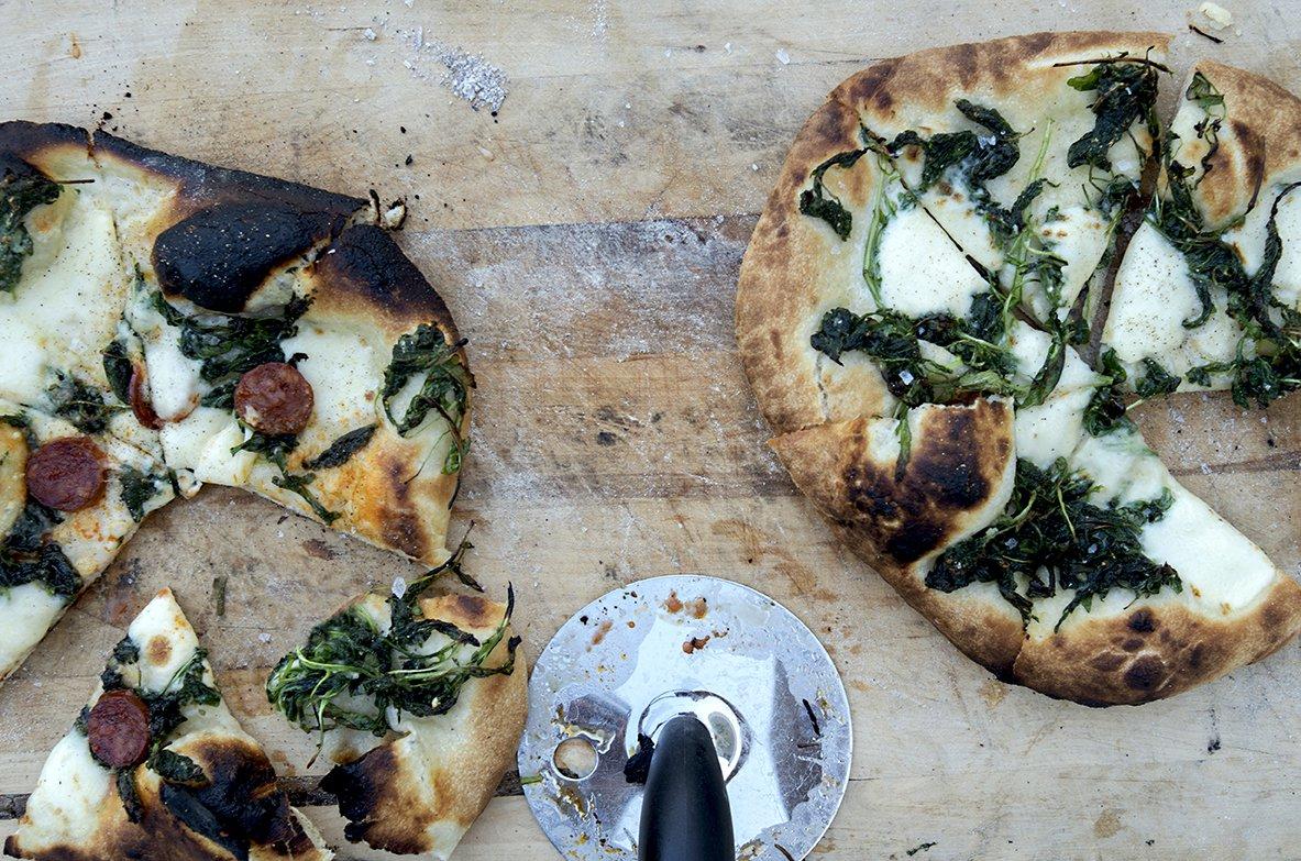 pizza med nesle