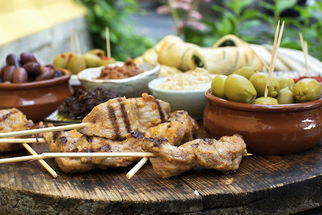 kyllingspyd og oliven