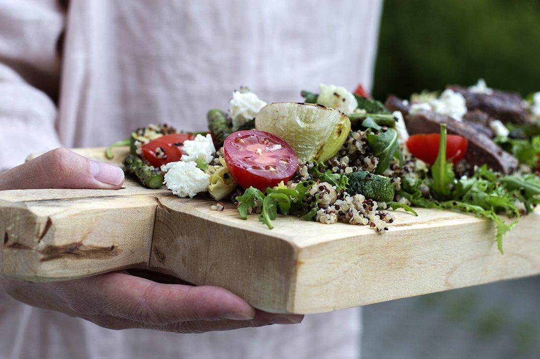 biffsalat med quinoa