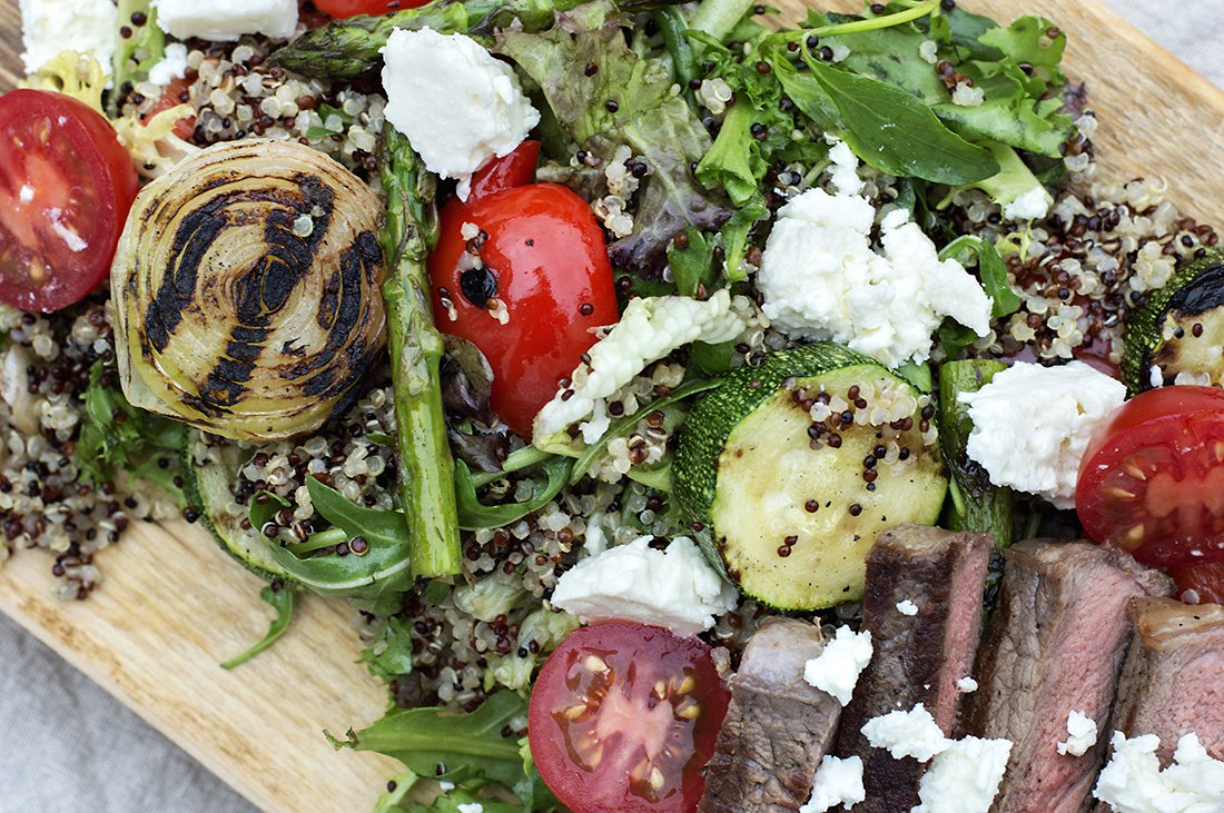 grillet salat