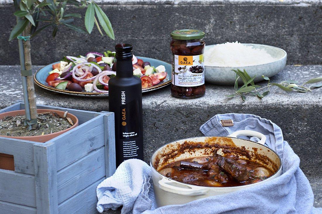 gresk salat og kjøttgryte